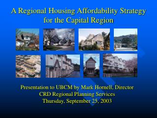 A Regional Housing Affordability Strategy for the Capital Region