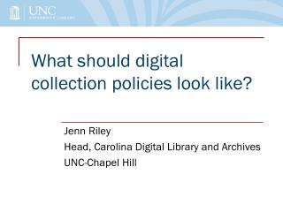 What should digital collection policies look like?