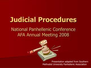 Judicial Procedures