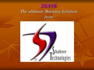 ZBANK The ultimate Banking Solution from