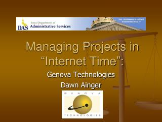 "Managing Projects in ""Internet Time"":"