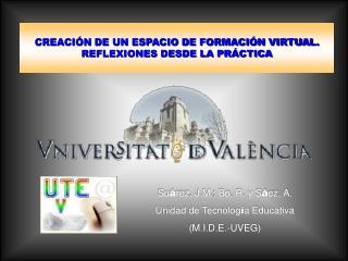CREACIÓN DE UN ESPACIO DE FORMACIÓN VIRTUAL. REFLEXIONES DESDE LA PRÁCTICA