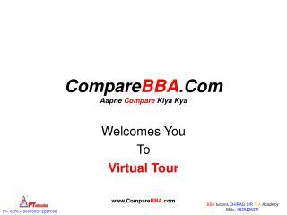 Compare BBA .Com Aapne  Compare  Kiya Kya