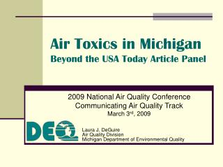 Air Toxics in Michigan     Beyond the USA Today Article Panel