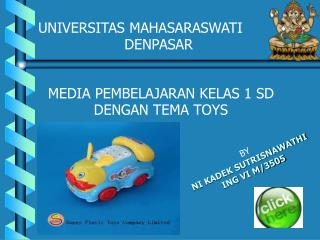 "Media Pembelajaran Kelas 1 SD smt 1 toys ""reading and writ"
