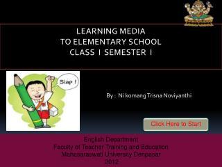 Media Pembelajaran kelas 1 SD smt 1 Numbers reading, writing
