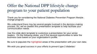 Community Partnerships for Diabetes Prevention and Control