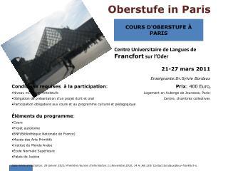 Oberstufe in Paris