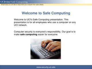 Welcome to Safe Computing