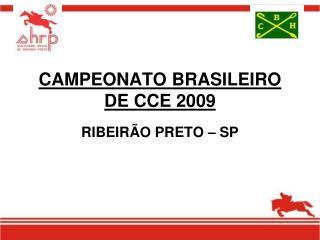 CAMPEONATO BRASILEIRO DE CCE 2009