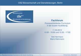 Vorstellung10' Ausgangspunkt 2007 (altes Curriculum)5' Lösungsansatz 2008 (neues Curriculum)20'