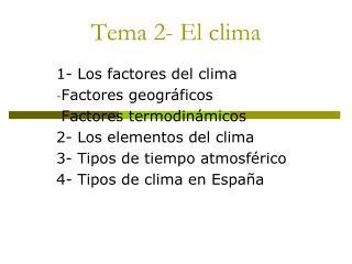 Tema 2- El clima