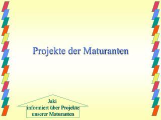 Projekte der Maturanten
