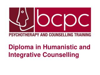 Diploma in Humanistic and Integrative Counselling