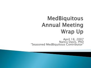 MedBiquitous Annual Meeting Wrap Up