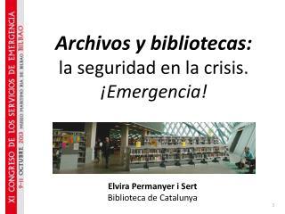 Elvira Permanyer i Sert Biblioteca de Catalunya