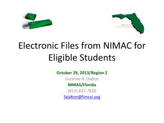 Electronic Files from NIMAC for Eligible Students