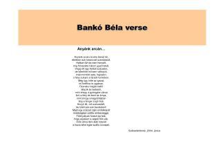 Bankó Béla verse