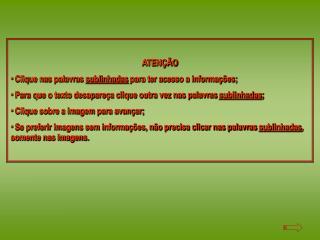 ATENÇÃO  Clique nas palavras  sublinhadas  para ter acesso a informações;