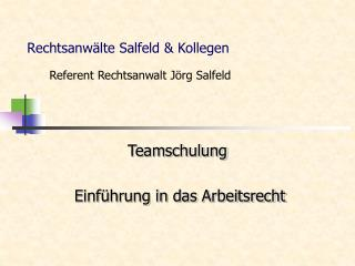 Rechtsanw�lte Salfeld & Kollegen