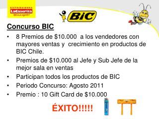 Concurso BIC