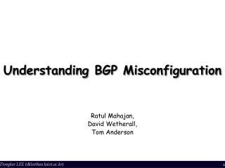 Understanding BGP Misconfiguration