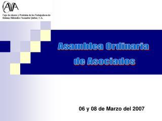 Asamblea Ordinaria  de Asociados