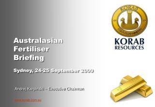 Australasian  Fertiliser  Briefing Sydney, 24-25 September 2009