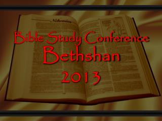 Bible Study Conference  Bethshan 2013