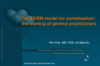 The TERM-model for somatisation: the training of general practitioners