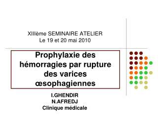 Prophylaxie des h morragies par rupture des varices  sophagiennes