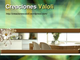 Creaciones  Valoli