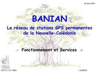 Le réseau de stations GPS permanentes de la Nouvelle-Calédonie