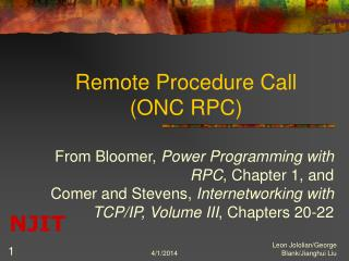 Remote Procedure Call ONC RPC