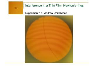 Experiment 17 - Andrew Underwood
