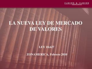 LA NUEVA LEY DE MERCADO DE VALORES