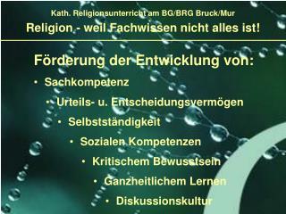 Religion - weil Fachwissen nicht alles ist!