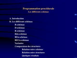 Programmation proc�durale Les diff�rents sch�mas