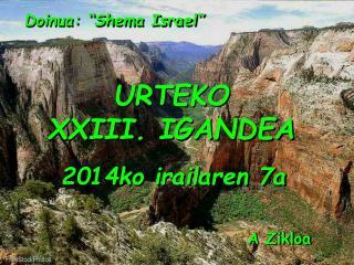 "Doinua: ""Shema Israel"""