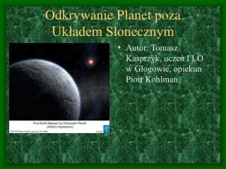Odkrywanie Planet poza Układem Słonecznym