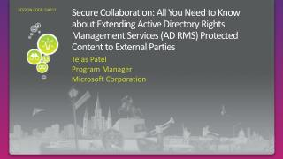 Secure Collaboration: All You Need to Know about Extending Active Directory Rights Management Services AD RMS Protected