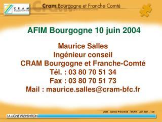 Cram – service Prévention – MS/FD – Juin 2004 – 1/20