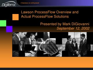 Presented by Mark DiGiovanni  September 12, 2002