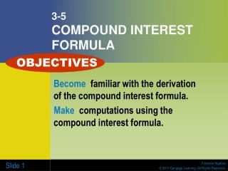 3-5 COMPOUND INTEREST FORMULA