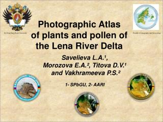 Photographic Atlas  of plants and pollen of  t he Lena River  D elta