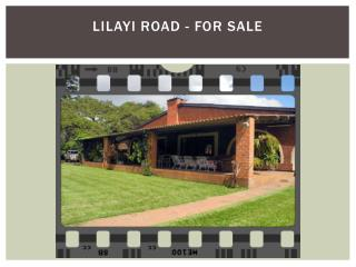 LILAYI ROAD - FOR SALE