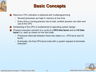 Chapter 5:  CPU Scheduling