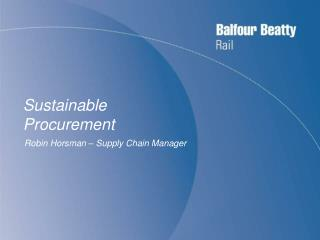 Sustainable Procurement