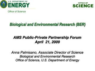 Anna Palmisano, Associate Director of Science Biological and Environmental Research