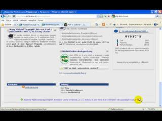 Film z pracy na witrynie